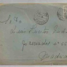 Sellos: SOBRE Y CARTA. PLASENCIA, CÁCERES. MADRID. 1 DE AGOSTO DE 1951.. Lote 53512807