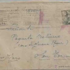 Sellos: SOBRE Y CARTA. MADRID. POR HARO. SAN TORCUATO. 28 DE SEPTIEMBRE DE 1942. MATASELLOS RODILLO.. Lote 53513014