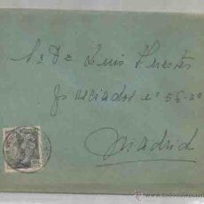 Sellos: SOBRE Y CARTA. PLASENCIA, CÁCERES. MADRID. JULIO DE 1951.. Lote 53513175
