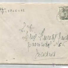 Sellos: SOBRE Y CARTA. PLASENCIA, CÁCERES. MADRID. 1960.. Lote 53567157