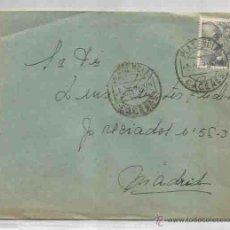 Sellos: SOBRE Y CARTA. PLASENCIA, CÁCERES. MADRID. JULIO DE 1951.. Lote 53567240