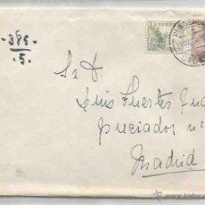 Sellos: SOBRE Y CARTA. PLASENCIA, CÁCERES. MADRID. 19 OCUBRE DE 1945.. Lote 53567249
