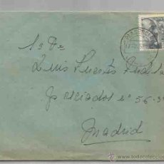 Sellos: SOBRE Y CARTA. PLASENCIA, CÁCERES. MADRID.17 DE JULIO DE 1945.. Lote 53567278