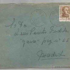 Sellos: SOBRE Y CARTA. PLASENCIA, CÁCERES. MADRID.SEPTIEMBRE DE 1950. Lote 53567303