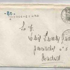 Sellos: SOBRE Y CARTA. PLASENCIA, CÁCERES. MADRID. 3 DE DICIEMBRE DE 1944.. Lote 53567354