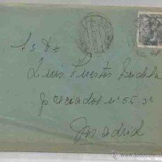 Sellos: SOBRE Y CARTA. PLASENCIA, CÁCERES. MADRID. 20? JULIO DE 1951.. Lote 53601076