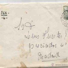 Sellos: SOBRE Y CARTA. PLASENCIA, CÁCERES. MADRID. AGOSTO 1951.. Lote 53601107