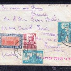 Sellos: 1937.- PALMA DE MALLORCA A FRANCIA. Lote 53767175