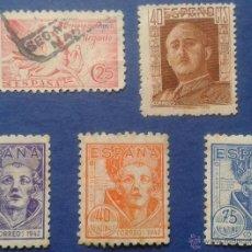 Sellos: 5 SELLOS, NUEVOS, ESPAÑA, AÑO 1942. Lote 53778135