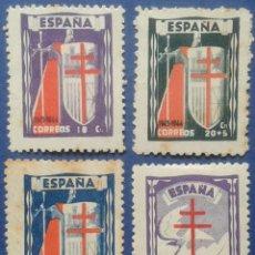 Sellos: 4 SELLOS,NUEVOS, ESPAÑA, AÑO 1943. Lote 53778507