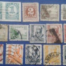 Sellos: 15 SELLOS, USADOS, ESPAÑA, AÑOS 1937-40. Lote 53819102