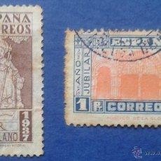 Sellos: 2 SELLOS, USADOS, ESPAÑA, AÑO 1937. Lote 53819297