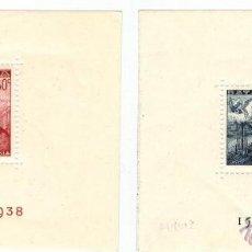 Sellos: PAREJA DE HOJAS BLOQUE BATALLA DE LEPANTO 1938. Lote 53819676