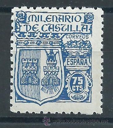 R6/ ESPAÑA 1944, EDF. 976, CAT 7,40, MILENARIO DE CASTILLA, NUEVO** (Sellos - España - Estado Español - De 1.936 a 1.949 - Nuevos)