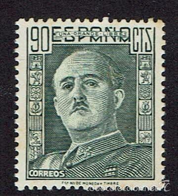 GENERAL FRANCO. 1946-47. EDIFIL 1000. ÓXIDO. (Sellos - España - Estado Español - De 1.936 a 1.949 - Nuevos)