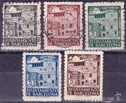 AYUNTAMIENTO DE BARCELONA-CASA PADELLAS/1943 (Sellos - España - Estado Español - De 1.936 a 1.949 - Nuevos)