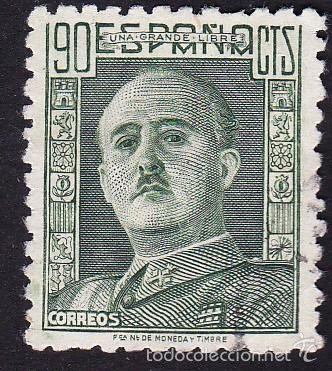 EDIFIL 1000 GENERAL FRANCO/1946-47 (USADO) (Sellos - España - Estado Español - De 1.936 a 1.949 - Nuevos)