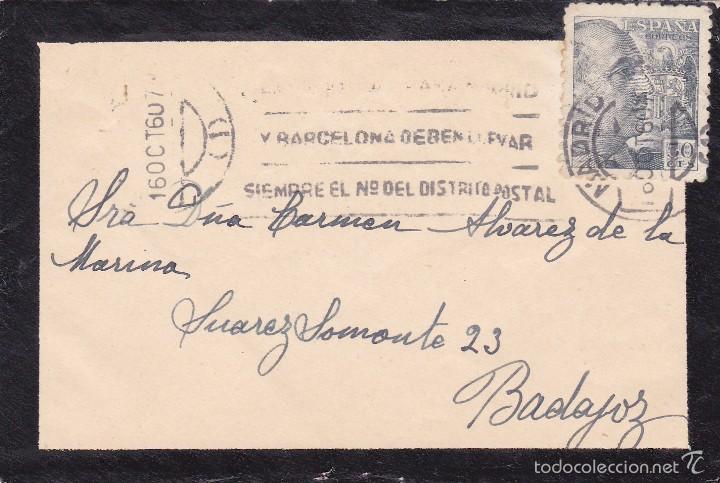 ESPAÑA.- CARTA DE LUTO PARA ENVIAR TARJETA (Sellos - España - Estado Español - De 1.936 a 1.949 - Cartas)