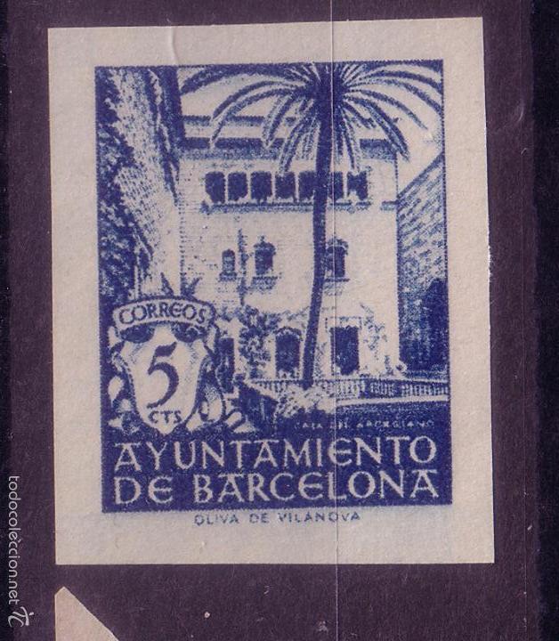 BB6-AYUNTAMIENTO BARCELONA EDIFIL 65. SIN DENTAR . LUJO . SIN GOMA (Sellos - España - Estado Español - De 1.936 a 1.949 - Nuevos)