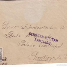 Selos: F6-46- CARTA CARTERIA T1 VILASANTAR (CORUÑA) -SANTIAGO SOBRE FISCAL MOVIL ROEL. Lote 56729926