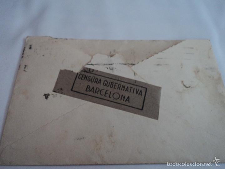 SOBRE DE CARTA CENSURA GUBERNATIVA AÑOS 40 LISBOA SELLOS DE PORTUGAL (Sellos - España - Estado Español - De 1.936 a 1.949 - Cartas)