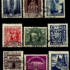Sellos: ESPAÑA 1943- EDI 0961/969 (SERIE-AÑO SANTO COMPOSTELANO) USADO. Lote 57242982