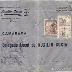 Sellos: SOBRE DE AUXILIO SOCIAL.. Lote 57318841