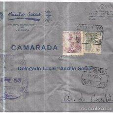 Sellos: SOBRE DE AUXILIO SOCIAL.. Lote 57318867