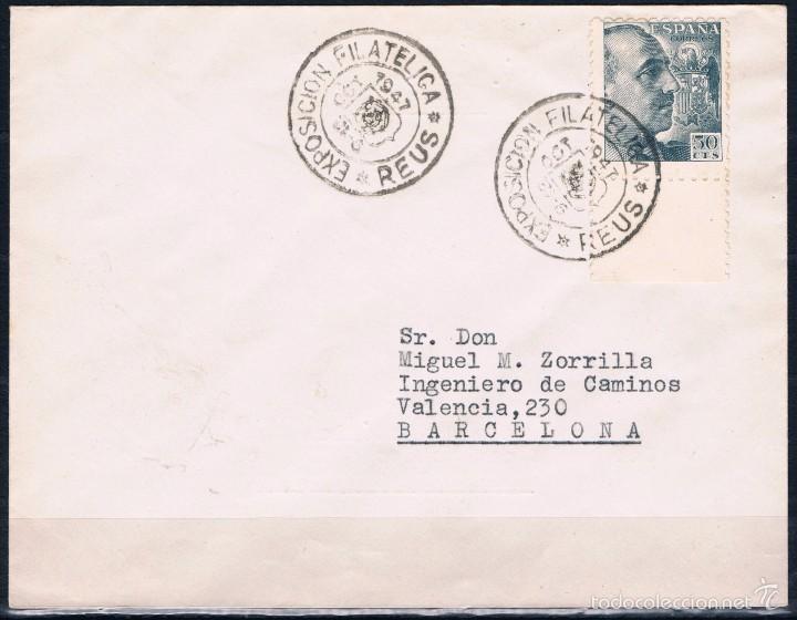 1947.- REUS A BARCELONA (Sellos - España - Estado Español - De 1.936 a 1.949 - Cartas)