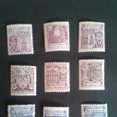 Sellos: EDIFIL 974/982. 1944 MILENARIO DE CASTILLA. SERIE COMPLETA. LUJO. PERFECTA.. Lote 57534557