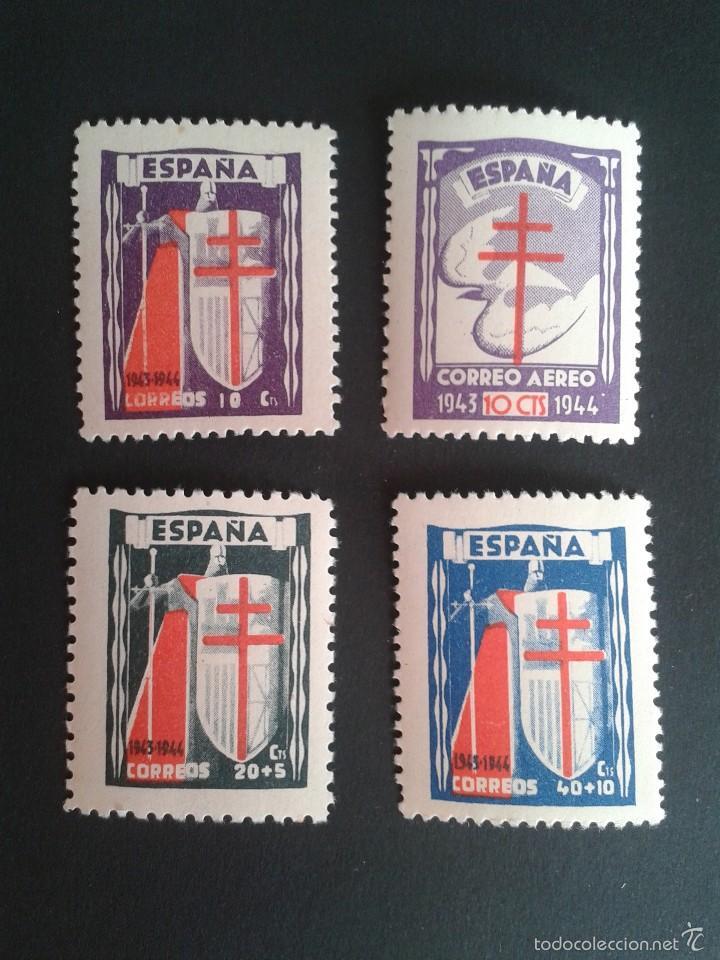 EDIFIL 970/973. PRO TUBERCULOSOS 1943. NUEVOS. BIEN CENTRADOS. (Sellos - España - Estado Español - De 1.936 a 1.949 - Nuevos)