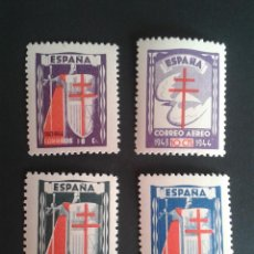 Sellos: EDIFIL 970/973. PRO TUBERCULOSOS 1943. NUEVOS. BIEN CENTRADOS. . Lote 57580056