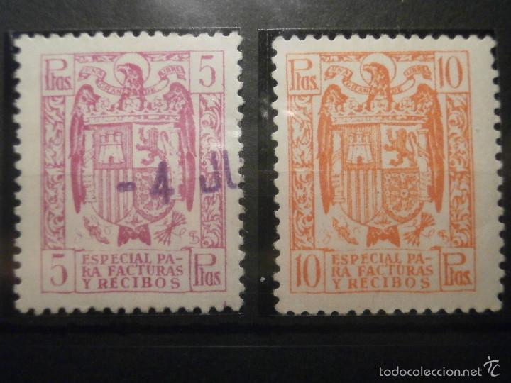 Sellos: SELLO - Póliza - Estado Español, Especial para Facturas y Recibos - LOTE - 25 cts, 3, 5, 10 y 25 pts - Foto 3 - 57748213
