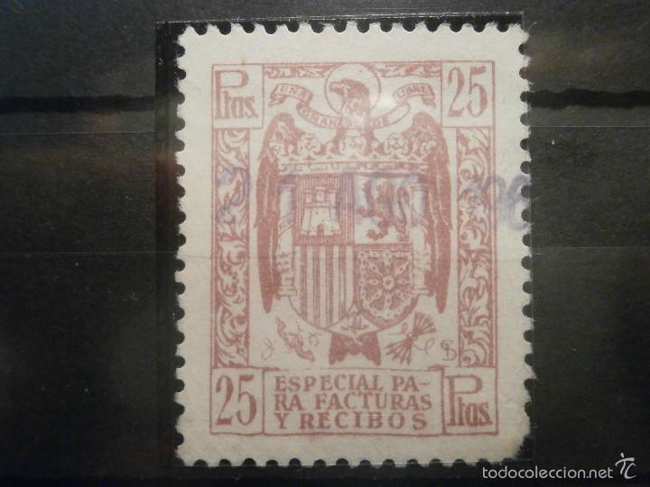 Sellos: SELLO - Póliza - Estado Español, Especial para Facturas y Recibos - LOTE - 25 cts, 3, 5, 10 y 25 pts - Foto 4 - 57748213