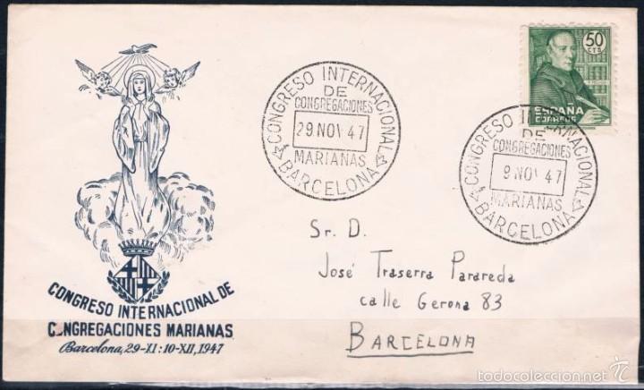 1947.- BARCELONA INTERIOR (Sellos - España - Estado Español - De 1.936 a 1.949 - Cartas)
