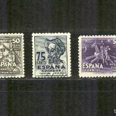 Sellos: EDIFIL 1012/14 CENTENARIO CERVANTES 1947.CENTRAJE NORMAL.NUEVOS.. Lote 57829192