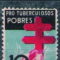 Sellos: AÑO 1937-PRO TUBERCULOSOS (NUEVO *** SIN SEÑAL DE FIJASELLOS). LUJO EDIFIL Nº 840.PRECIO CATº 49,5 €. Lote 58278175
