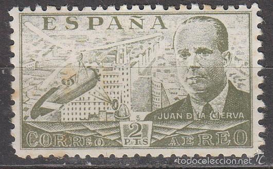 EDIFIL 945, AUTOGIRO LA CIERVA, NUEVO SIN SEÑAL DE FIJASELLOS (Sellos - España - Estado Español - De 1.936 a 1.949 - Nuevos)