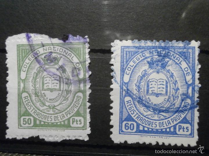 Sellos: Sello - Fiscal - Colegio Nacional de Registradores de la Propiedad - 9 Valores diferentes - - Foto 6 - 58298024