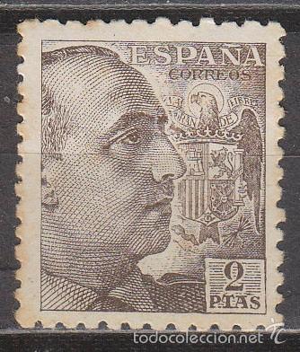 EDIFIL 932, GENERAL FRANCO, NUEVO CON SEÑAL DE CHARNELA (Sellos - España - Estado Español - De 1.936 a 1.949 - Nuevos)
