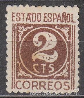 EDIFIL 915, CIFRAS (2 CENTIMOS), NUEVO SIN SEÑAL DE CHARNELA (Sellos - España - Estado Español - De 1.936 a 1.949 - Nuevos)