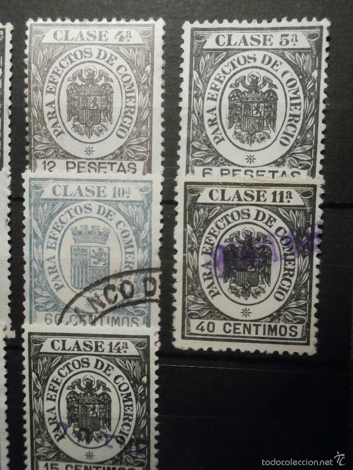 Sellos: Sello Fiscal - POLIZA EFECTOS DE COMERCIO - CLASE 1.a 14 Excepto 8 VERDE - TIMBRE SELLO - Lote - Foto 3 - 58299932