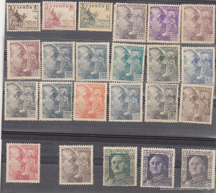 X 1044/61 CID Y GENERAL FRANCO 1949/53 (18 V + 5 VARIEDADES) (Sellos - España - Estado Español - De 1.936 a 1.949 - Nuevos)