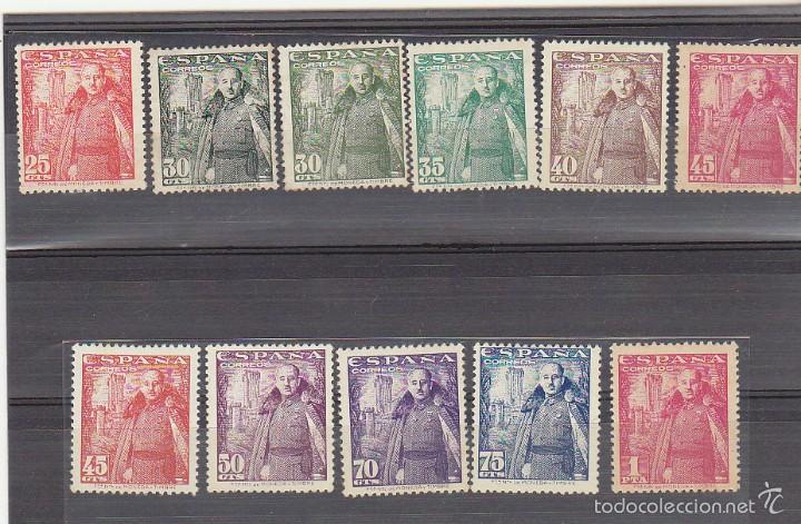 X 1024/32 GENERAL FRANCO Y CASTILLO DE LA MOTA 1948/54. ( + 1V..VARIEDAD) (Sellos - España - Estado Español - De 1.936 a 1.949 - Nuevos)
