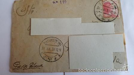 ANTIGUO SOBRE CORREO CAMPAÑA DEL 31 JULIO 1938 .C . N º 2 .A - CENSURA 2ºCUERPO EJERCITO (Sellos - España - Estado Español - De 1.936 a 1.949 - Usados)