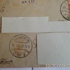 Sellos: ANTIGUO SOBRE CORREO CAMPAÑA DEL 31 JULIO 1938 .C . N º 2 .A - CENSURA 2ºCUERPO EJERCITO. Lote 58408778