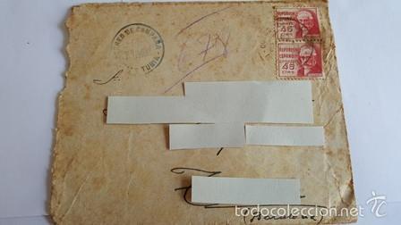ANTIGUO SOBRE CORREO CAMPAÑA DEL 6 AGOSTO 1938 -DIVISON DE TURIA - (Sellos - España - Estado Español - De 1.936 a 1.949 - Usados)