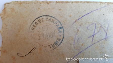 Sellos: ANTIGUO SOBRE CORREO CAMPAÑA DEL 6 AGOSTO 1938 -DIVISON DE TURIA - - Foto 2 - 58408882