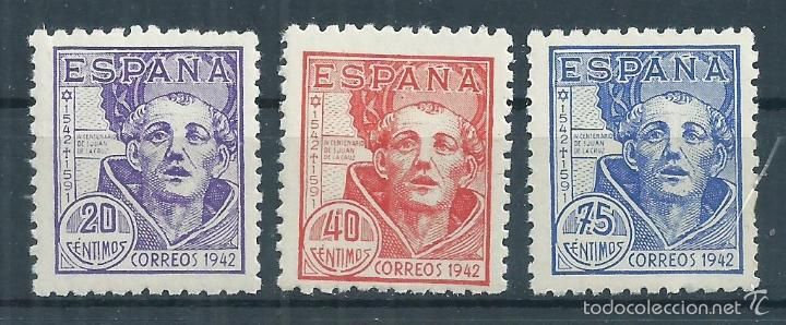 .G4/R7 / ESPAÑA 1942, EDF. 954/56, NUEVOS** (Sellos - España - Estado Español - De 1.936 a 1.949 - Nuevos)