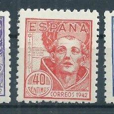 Sellos: .G4/R7 / ESPAÑA 1942, EDF. 954/56, NUEVOS**. Lote 58580154